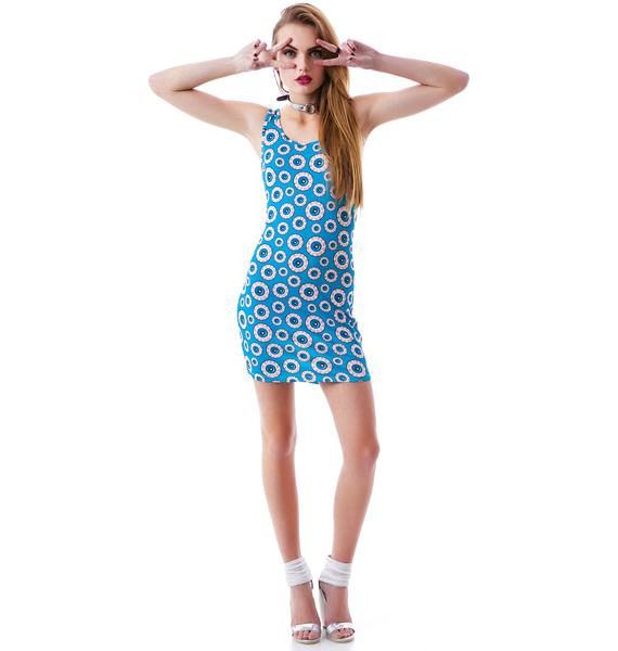 Sourpuss Clothing Optical Delusion Dress