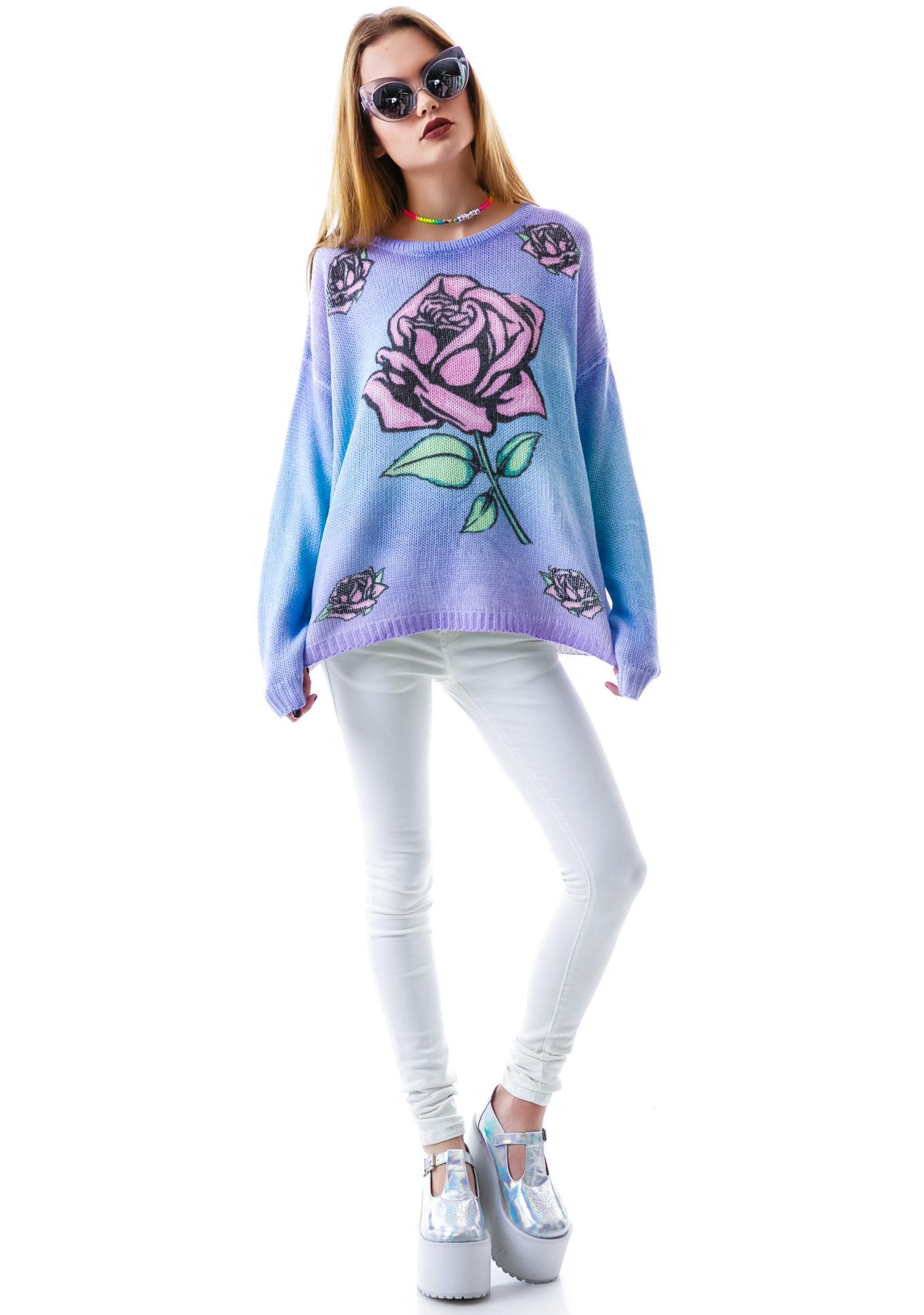 Mink Pink Dreaming Rose Jumper