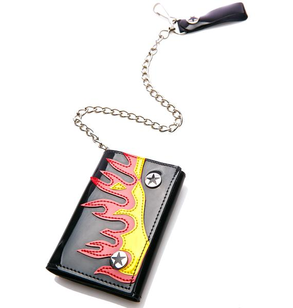 Club Exx Heated Moment Chain Wallet