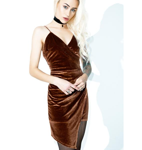 Ciara Asymmetrical Velvet Dress