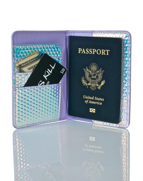 Druzy Passport Holder