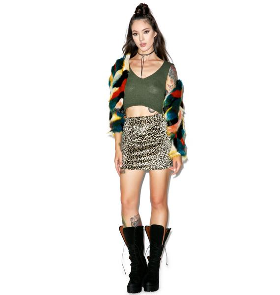 Glamorous Dirty Money Knit Crop Top