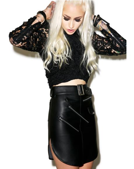 Outlaw Leather Skirt