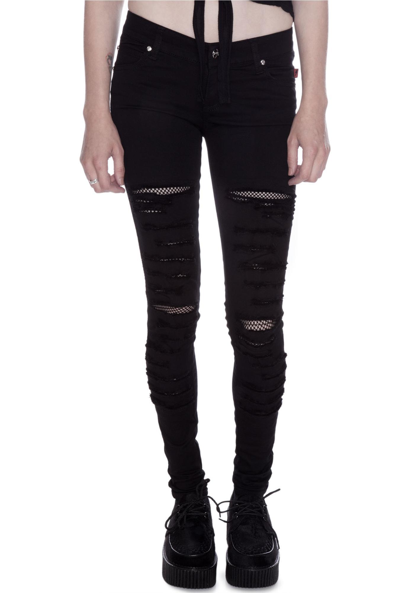 Tripp NYC Tear It Up Fishnet Jeans