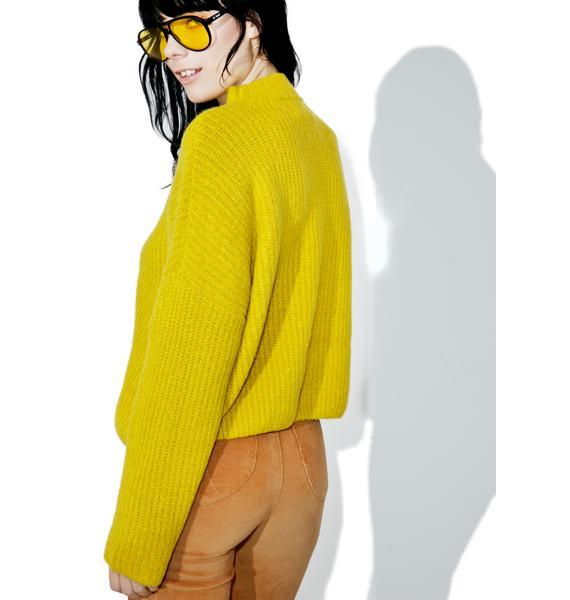 J.O.A Oversized Knit Sweater