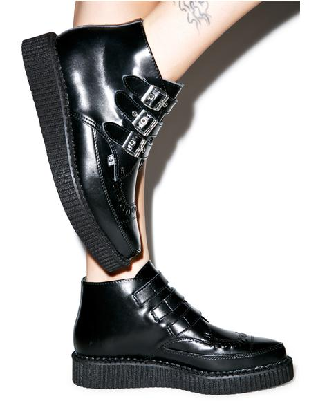 3-Buckle Pointed Boots