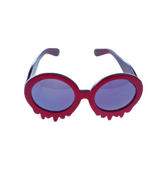 Hayley Elsaesser Pink Slime Time Sunglasses