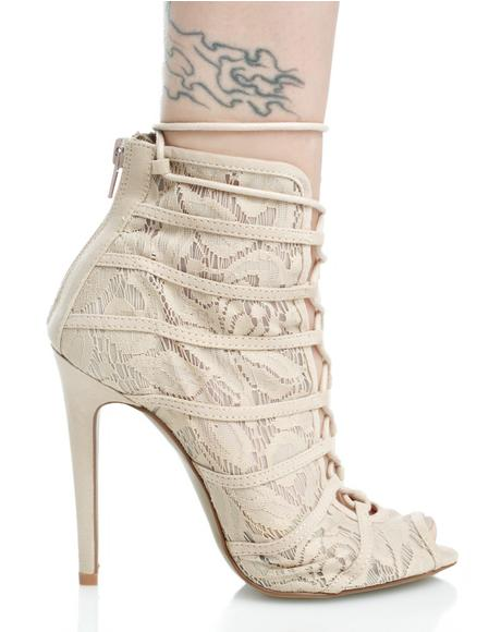Ride For U Lace-Up Heels