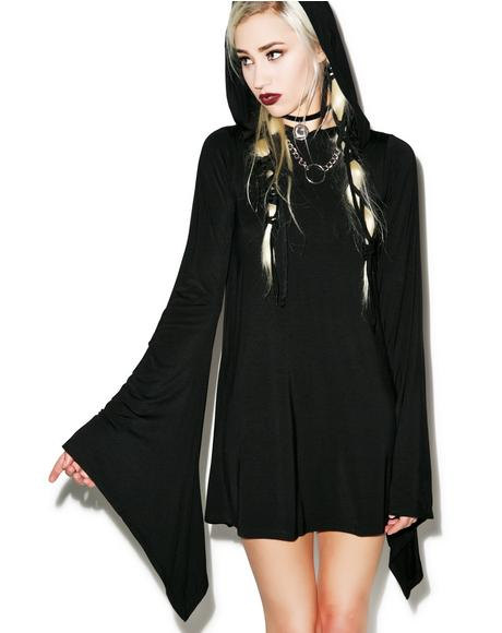 Witch Hood Flare Dress