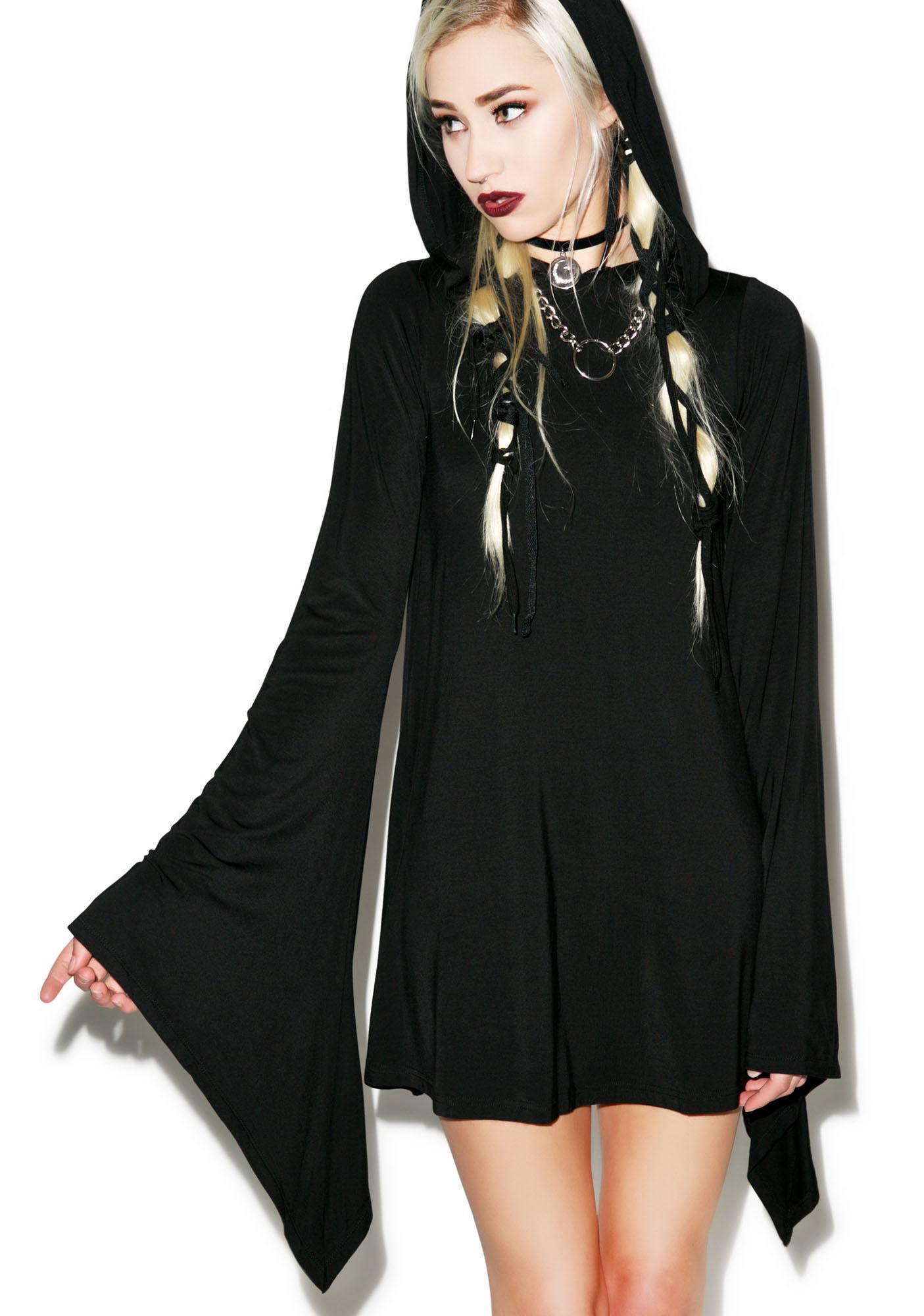 Killstar Witch Hood Flare Dress