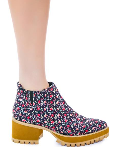 Floral Wolf II Boots