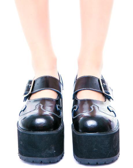 Swirl Mary Jane Nosebleed Heels