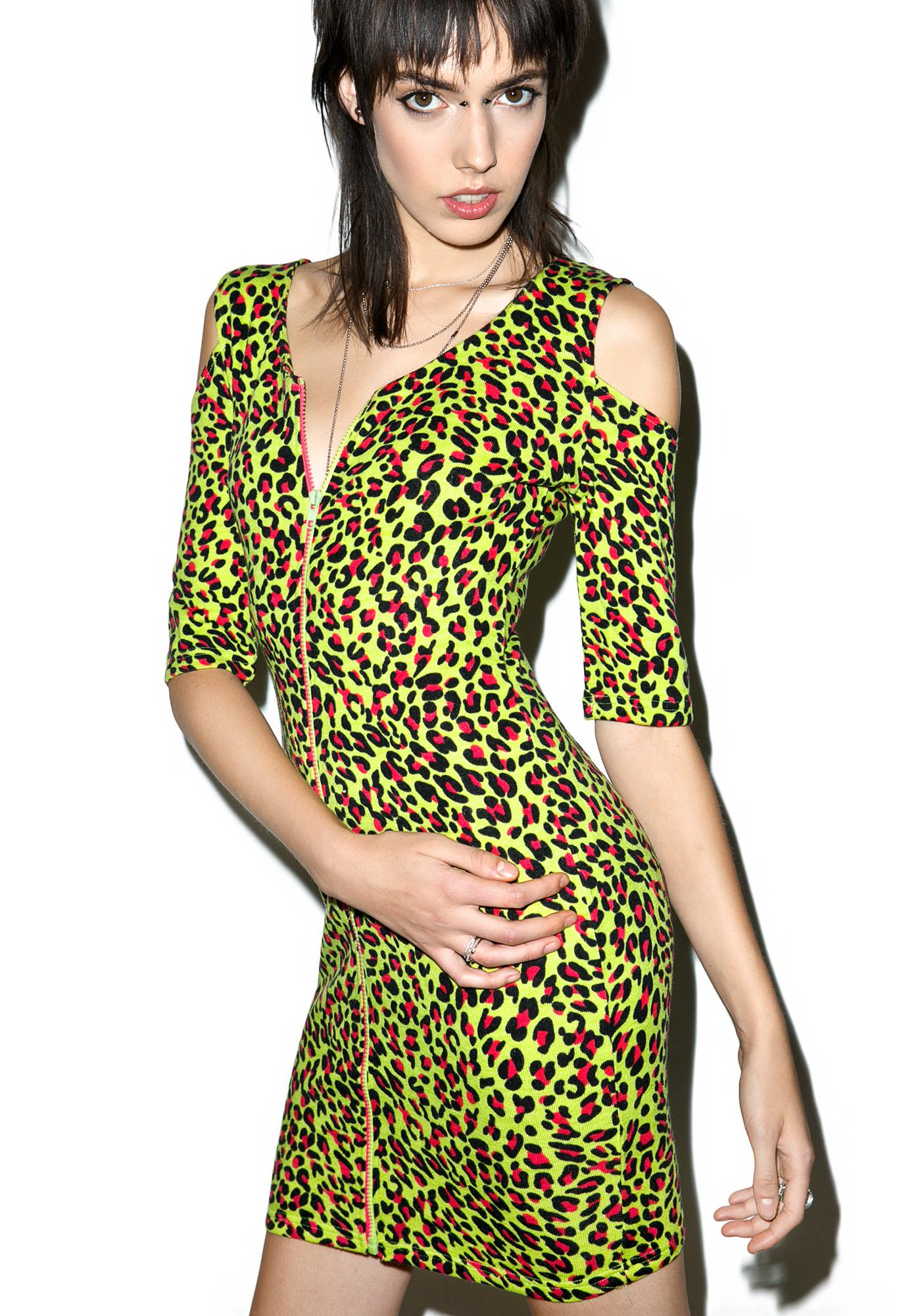 Ghoulish Leopard Bodycon
