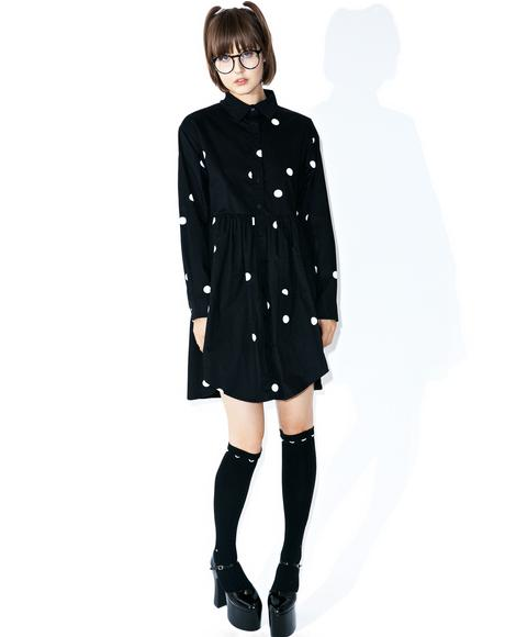 Big Dot Shirt Dress