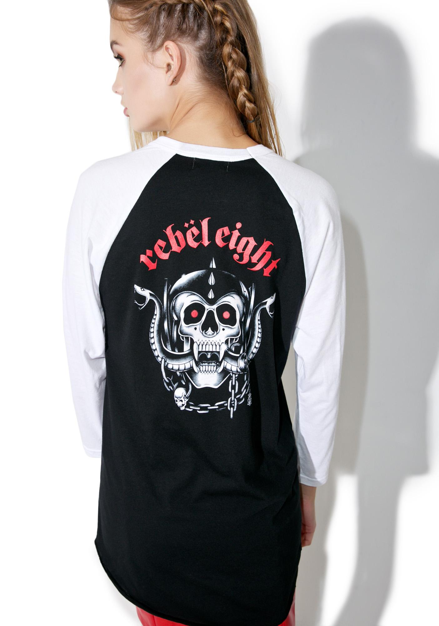 Rebel8 Born To Die Raglan Tee