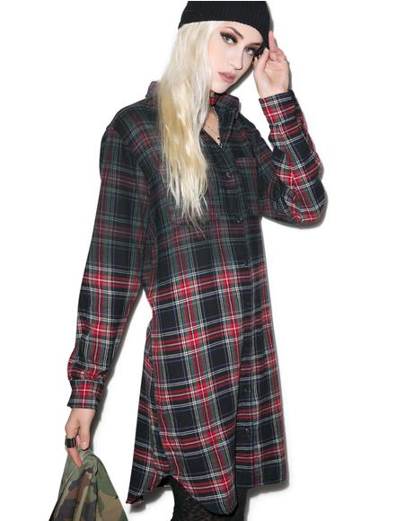 Dip Dye Catalano Flannel Top