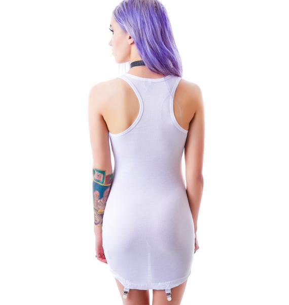 Widow Delicate Details Garter Clip Tank Dress