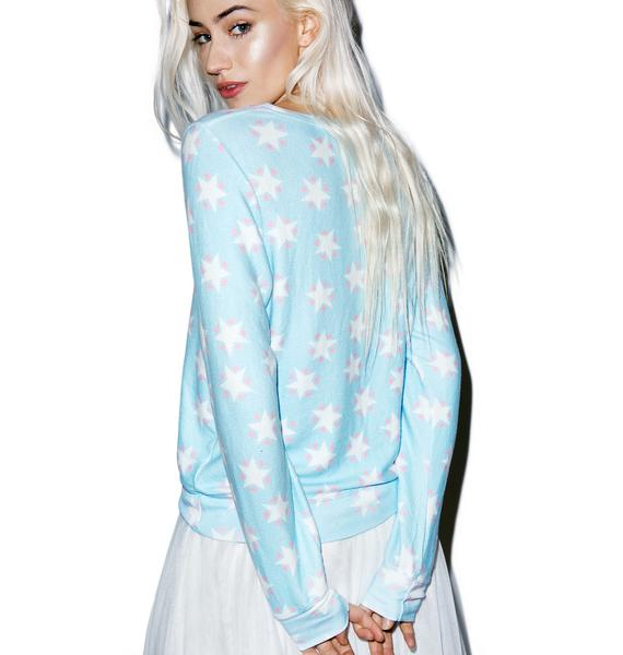 Wildfox Couture Stars And Hearts Baggy Beach Jumper