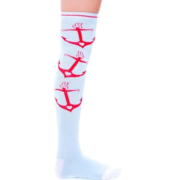 Sourpuss Clothing Anchors Socks