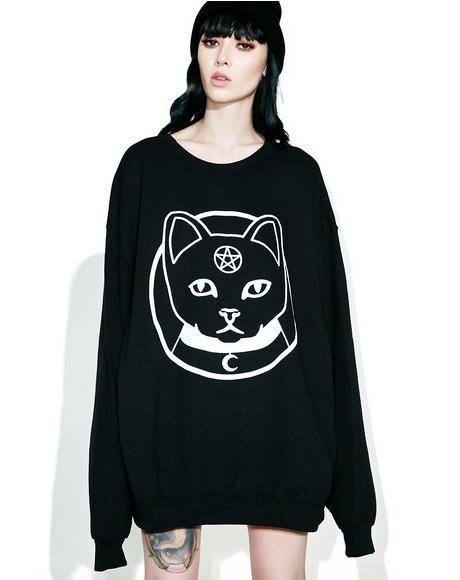 Witch Kitty Oversized Sweatshirt