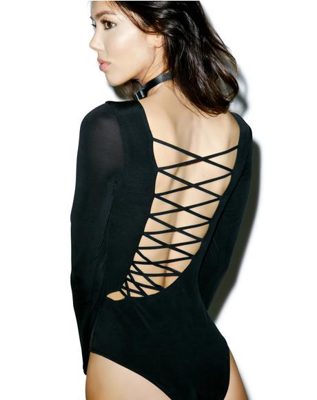 Novella Lace-Up Bodysuit