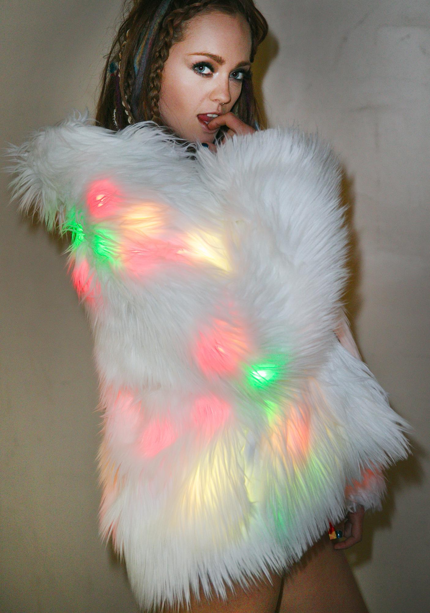 J Valentine Flashing Lights Midi Jacket