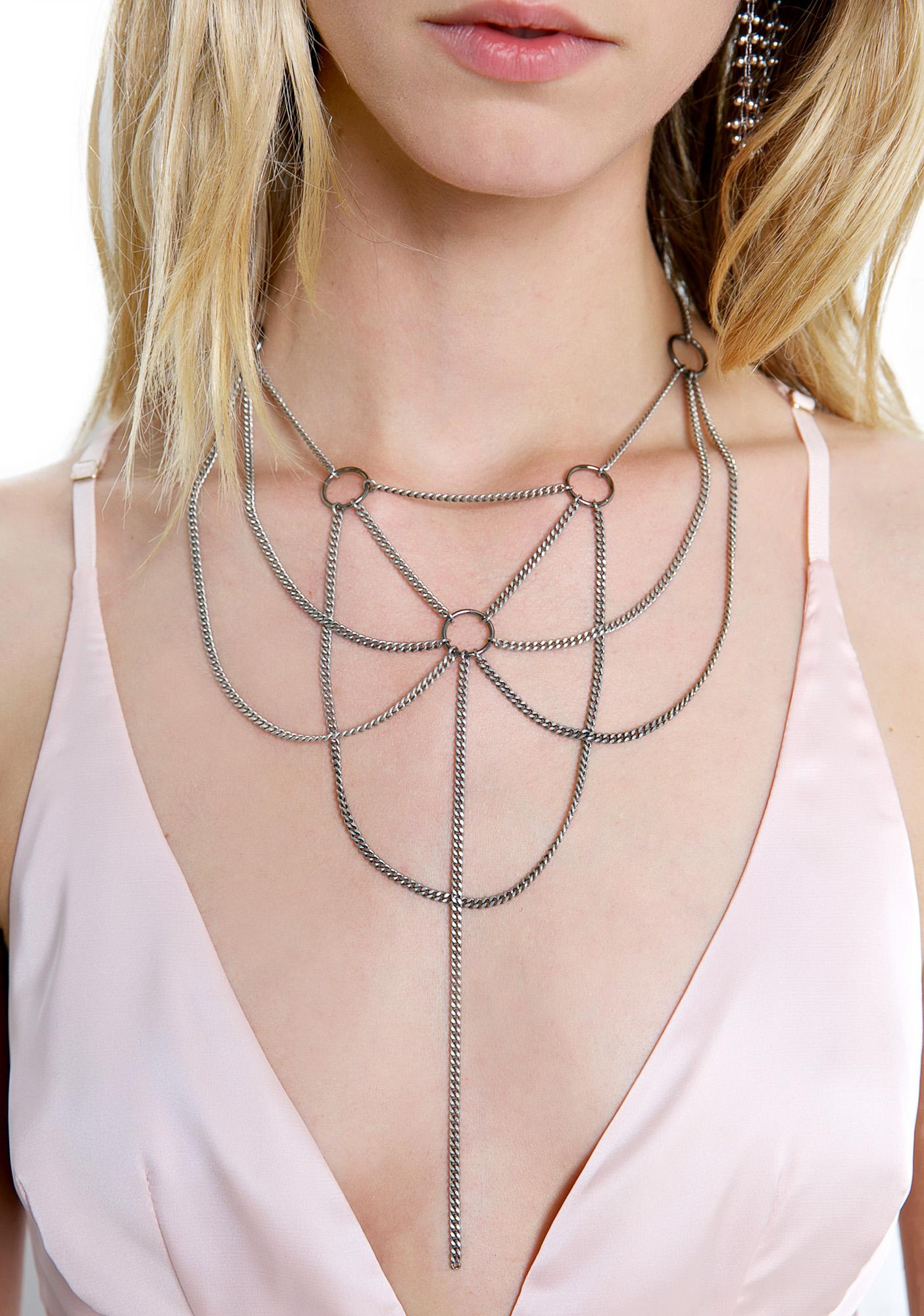 Regal Rose Ethereal Collar Necklace
