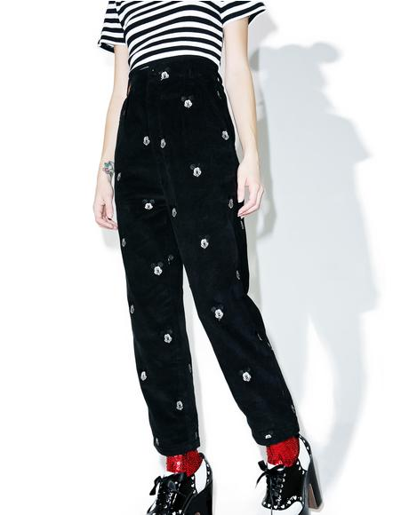 X Disney Mickey Mouse Cord Trouser