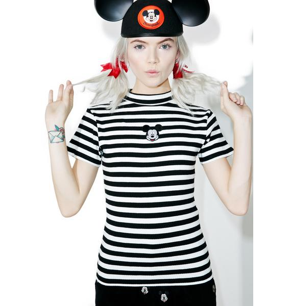 Lazy Oaf X Disney Mickey Mouse Baby Rib Tee