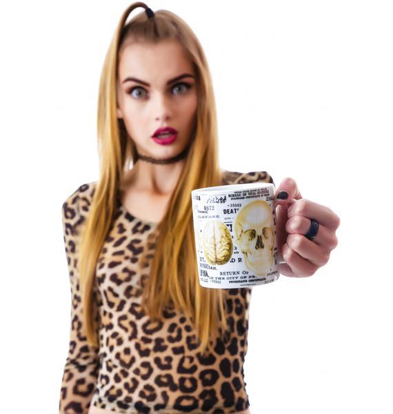 Sourpuss Clothing Skull Mug