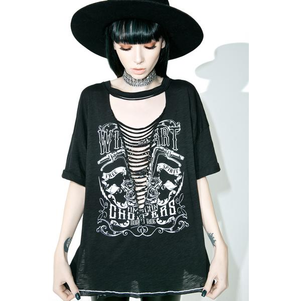 Hell's Highway Plunge Neck Tee