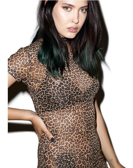 Leopard Minsk Dress