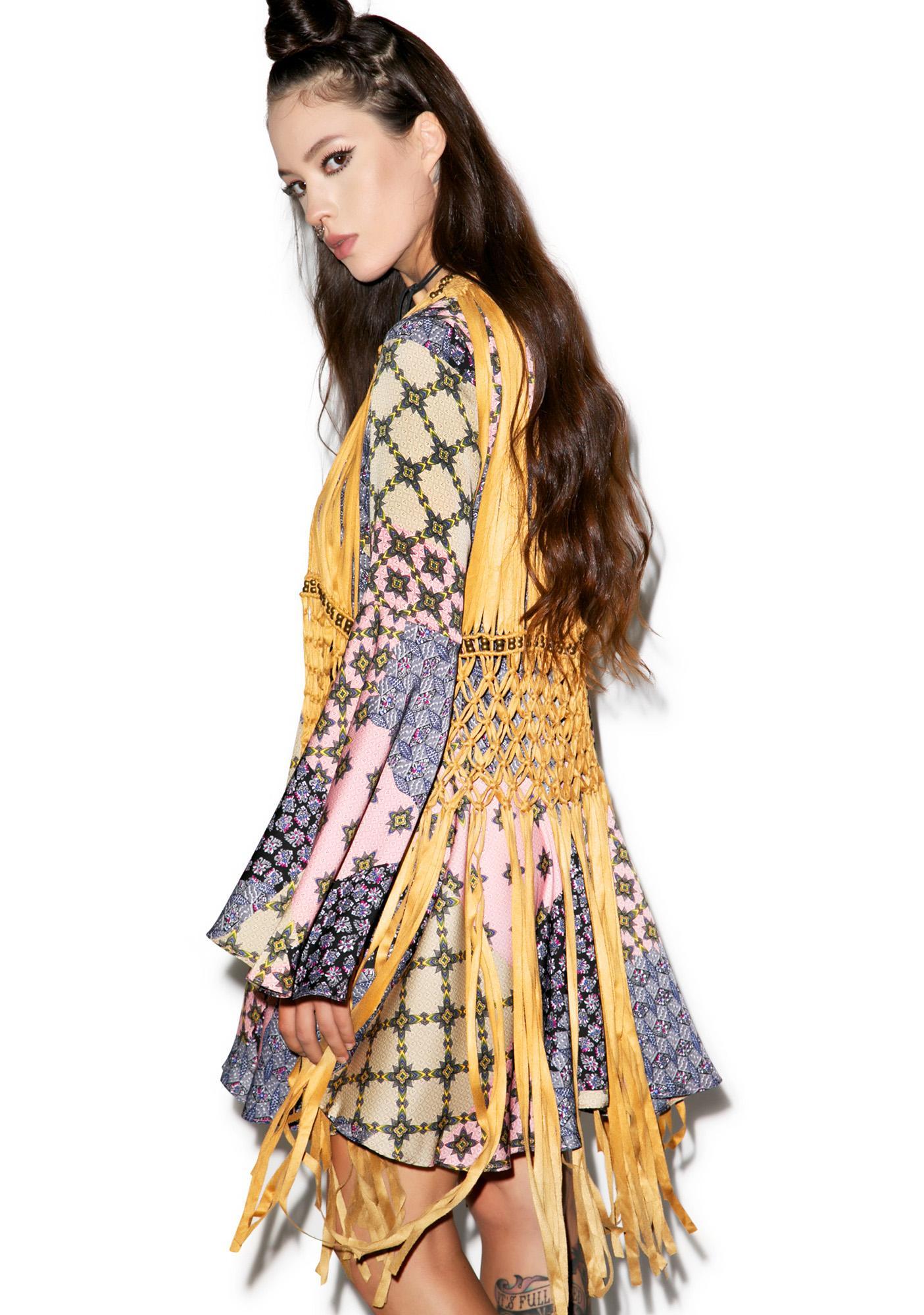 Glamorous Patch Yer Work Flare Dress