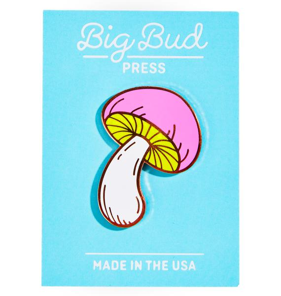 Big Bud Press Magic Mushroom Enamel Pin