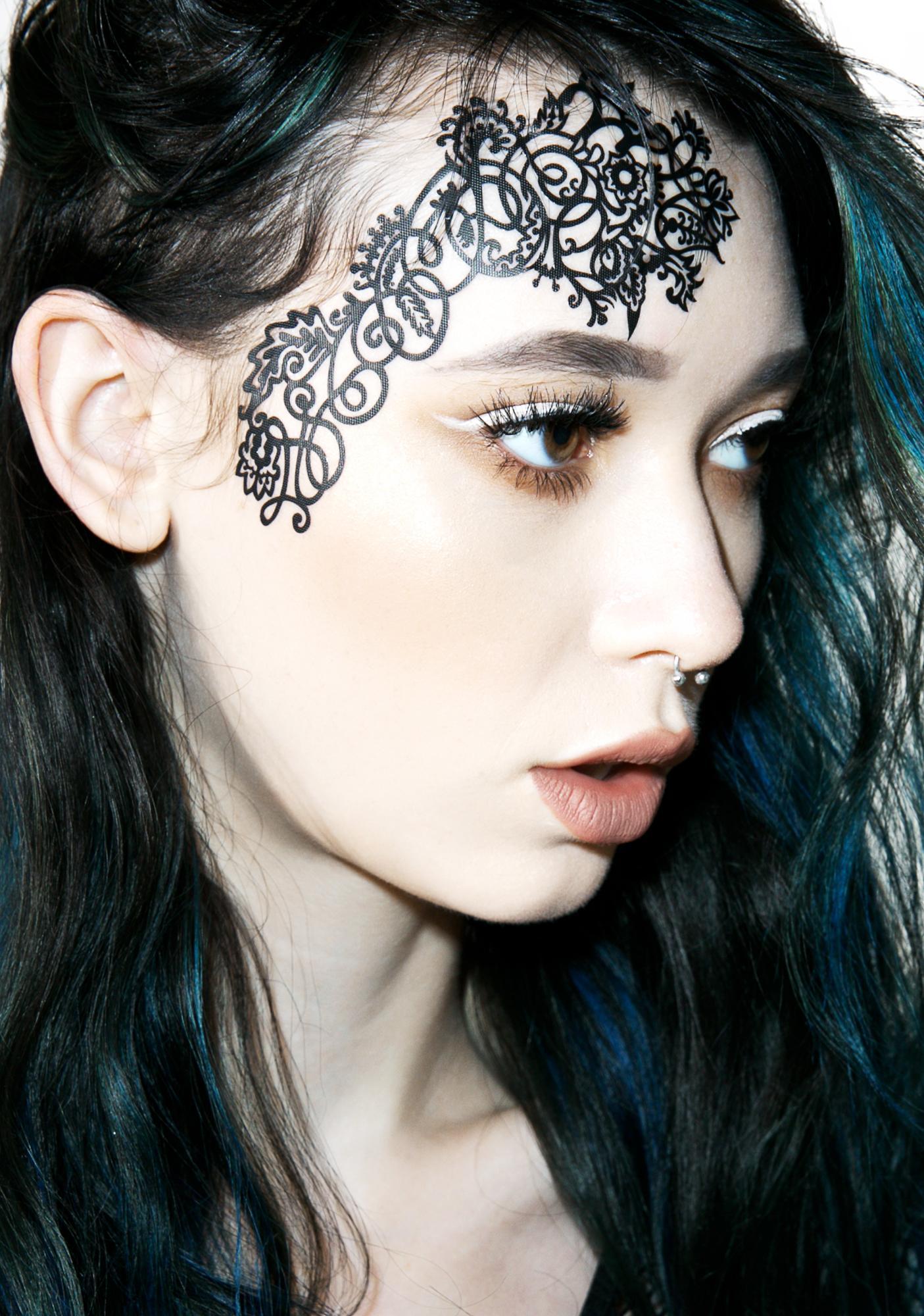 Face Lace Mehndoodle 1 Face Lace