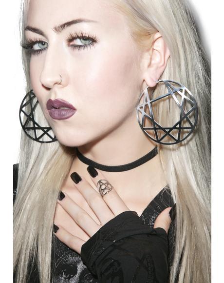 Enneagram Hoop Earrings