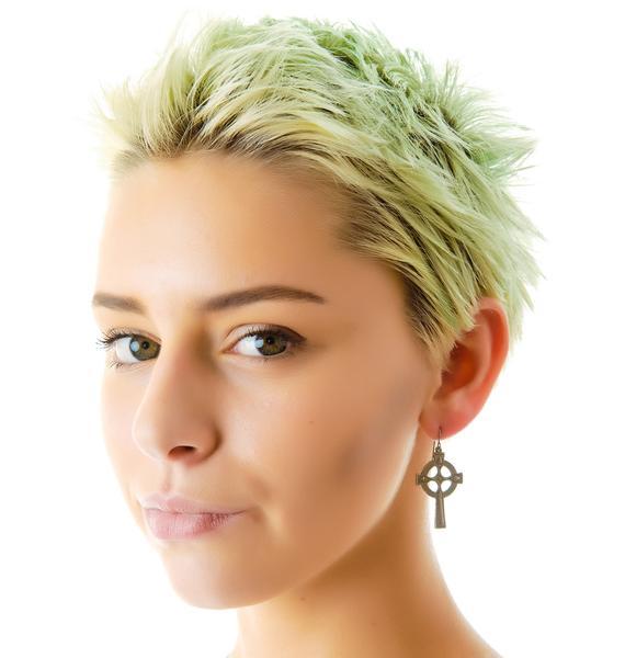 Vanessa Mooney Olesia Cross Earrings