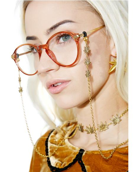 Trinity Leaf Glasses Chain