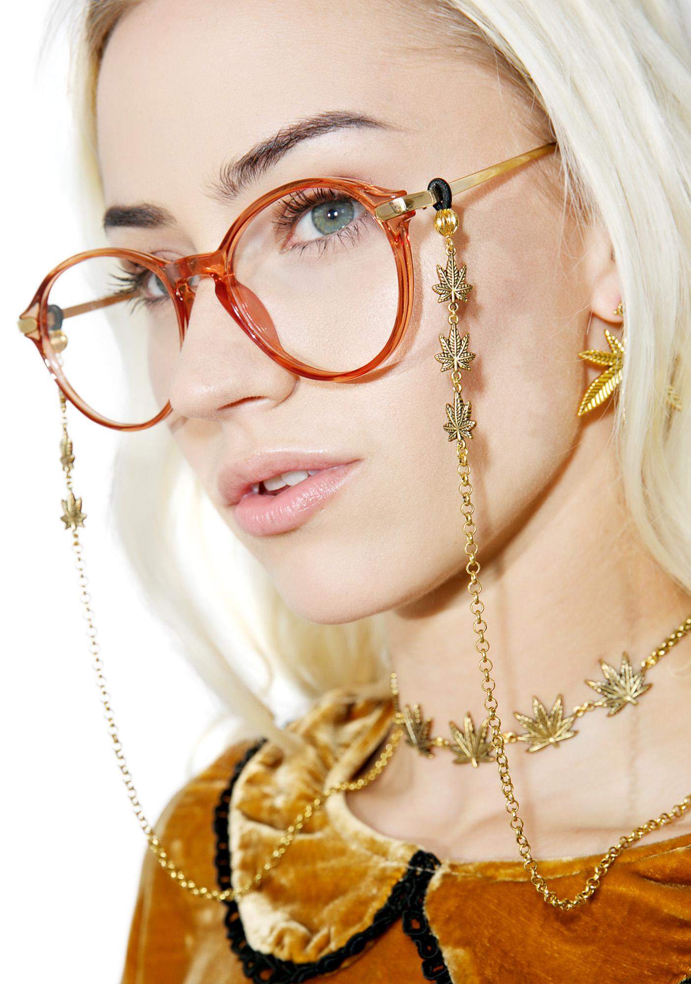 Blunted Objects Trinity Leaf Glasses Chain