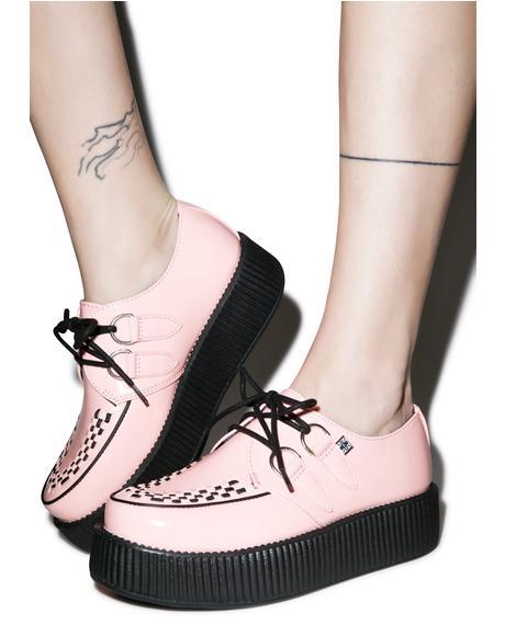 Peachy Pink Patent Viva Mondo Creepers