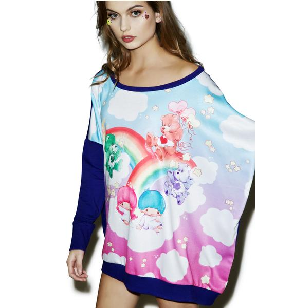 Japan L.A. Little Twin Stars X Care Bears Poncho Sweatshirt