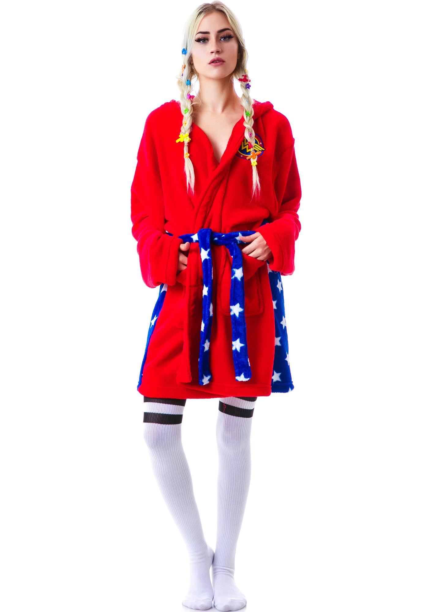 Undergirl Wonderwoman Hooded Robe