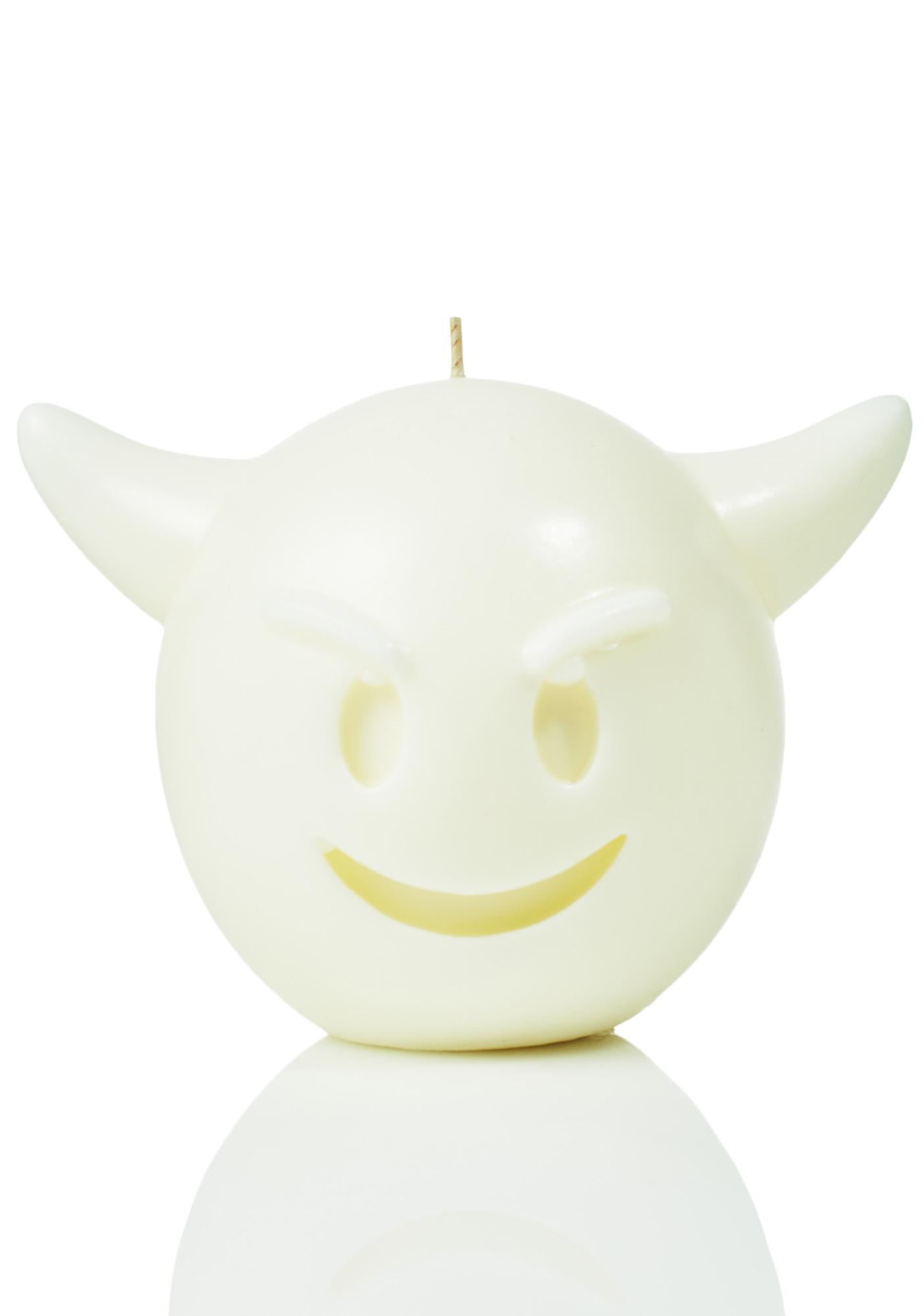 Fiendish Emoji Face Candle
