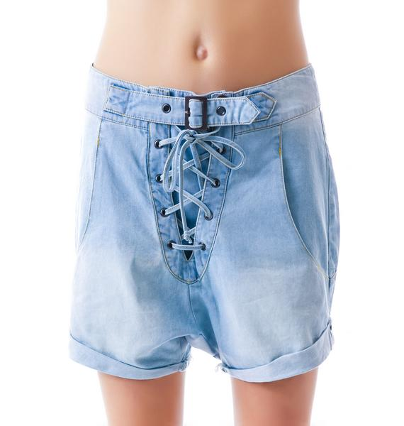 One Teaspoon Chambray Superfreak Shorts