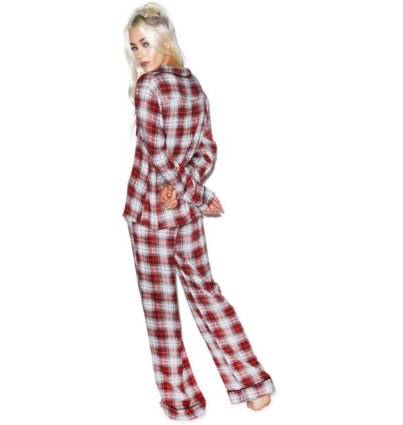Wildfox Couture Sunbleached Plaid Classic Pajama Set