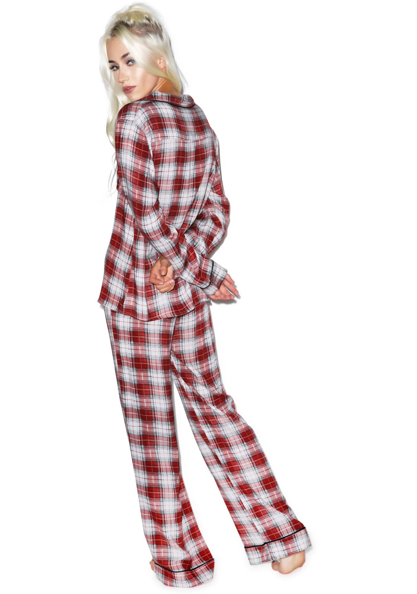 Wildfox Couture Sunbleached Plaid Classic Pajama Set