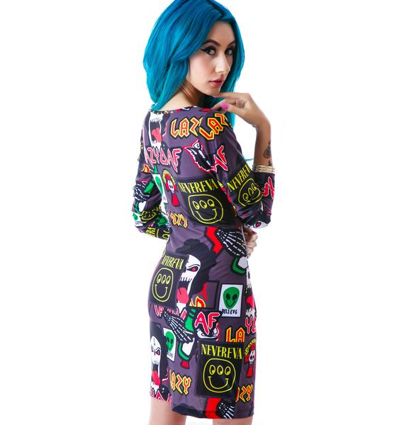 Lazy Oaf Megabreath Bodycon Dress