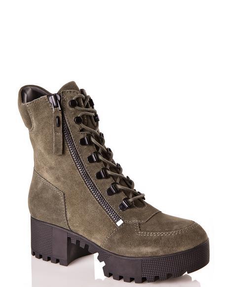 Phoenix Lace-Up Combat Boots
