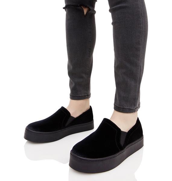 Midnight Rebelle Velvet Sneakers