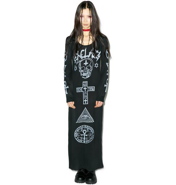 Ghostin' Symbolic Maxi Dress